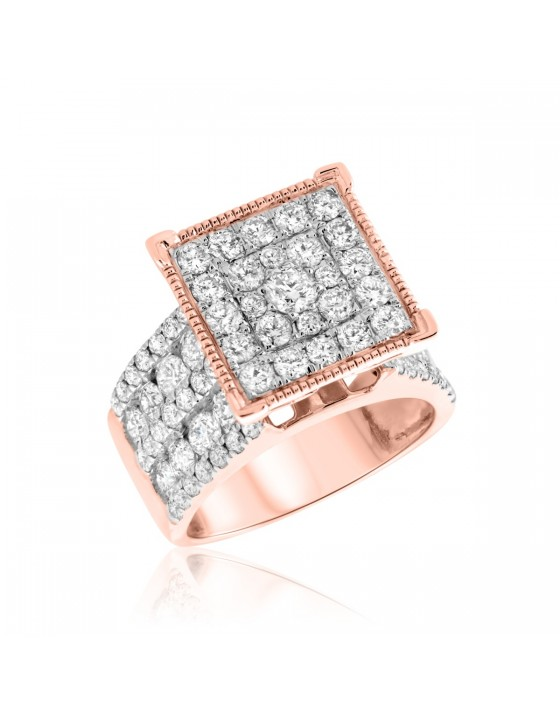 3 CT. T.W. Diamond Engagement Ring 10K Rose Gold