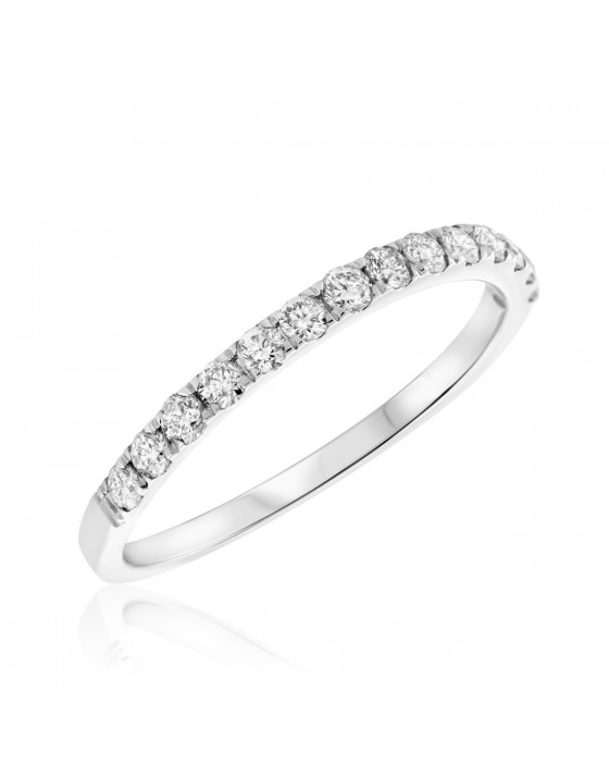 3/8 CT. T.W. Diamond Ladies Wedding Band 14K White Gold