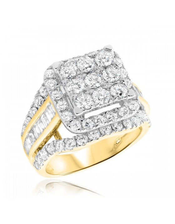 3 1/10 CT. T.W. Diamond Engagement Ring 10K Yellow Gold