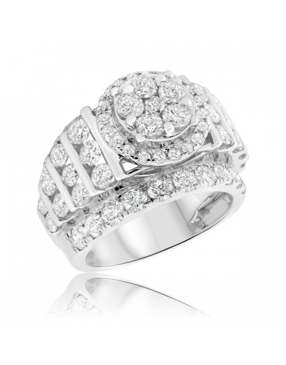 4 CT. T.W. Diamond Engagement Ring 14K White Gold
