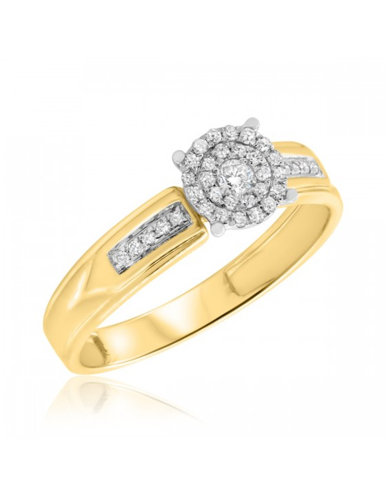 1/5 CT. T.W. Diamond Engagement Ring 10K Yellow Gold