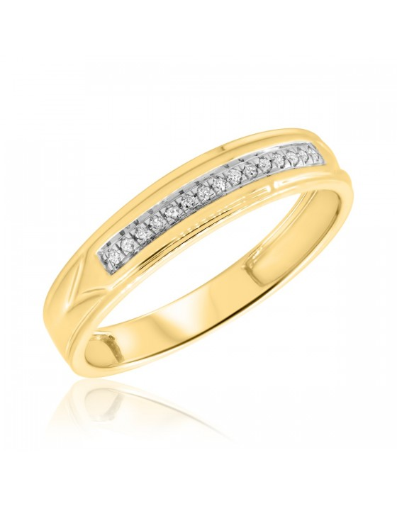 1/15 CT. T.W. Diamond Ladies Wedding Band 10K Yellow Gold