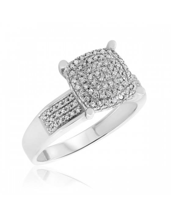 1/4 CT. T.W. Diamond Engagement Ring 14K White Gold