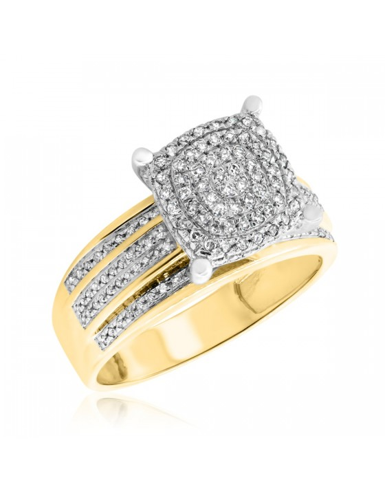 1/3 CT. T.W. Diamond Engagement Ring 14K Yellow Gold