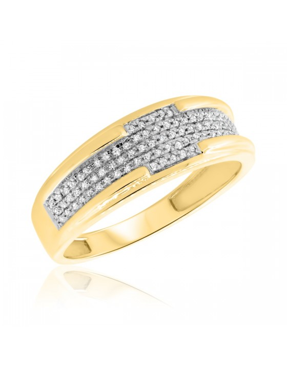 1/5 Carat T.W. Diamond Ladies Wedding Band 10K Yellow Gold