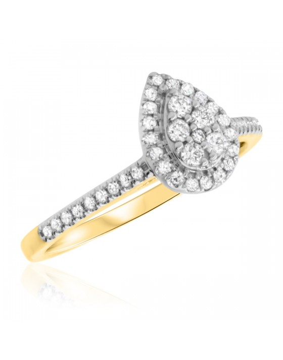 1/2 Carat T.W. Diamond Engagement Ring 14K Yellow Gold
