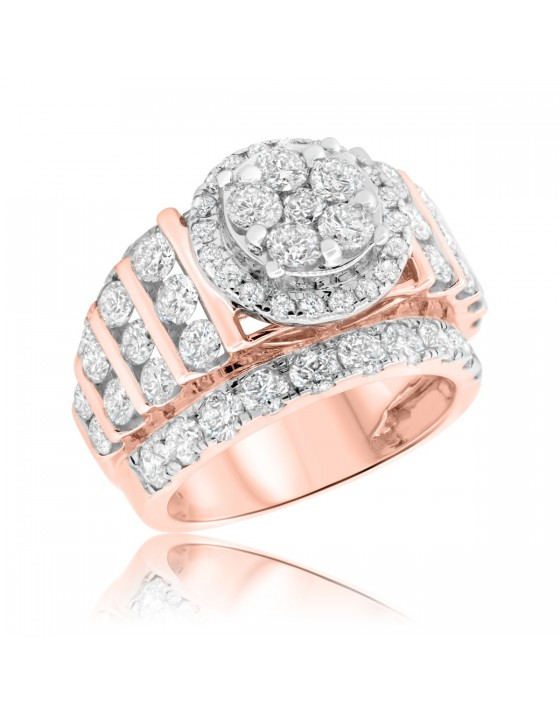 5 1/5 CT. T.W. Diamond Engagement Ring 14K Rose Gold