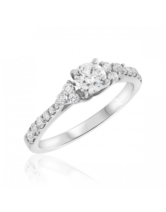 3/4 CT. T.W. Diamond Engagement Ring 10K White Gold