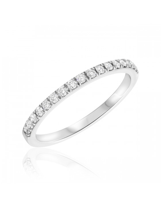 1/4 Carat T.W. Diamond Ladies Wedding Band  10K White Gold