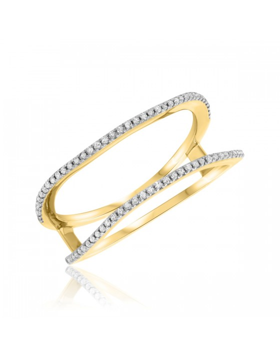 1/4 Carat T.W. Diamond Ladies Wedding Band 14K Yellow Gold