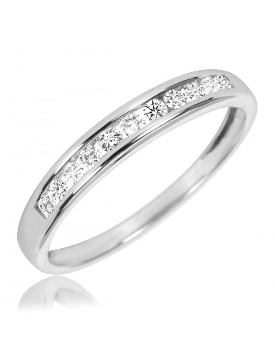 1/5 Carat T.W. Diamond Ladies' Wedding Band 14K White Gold