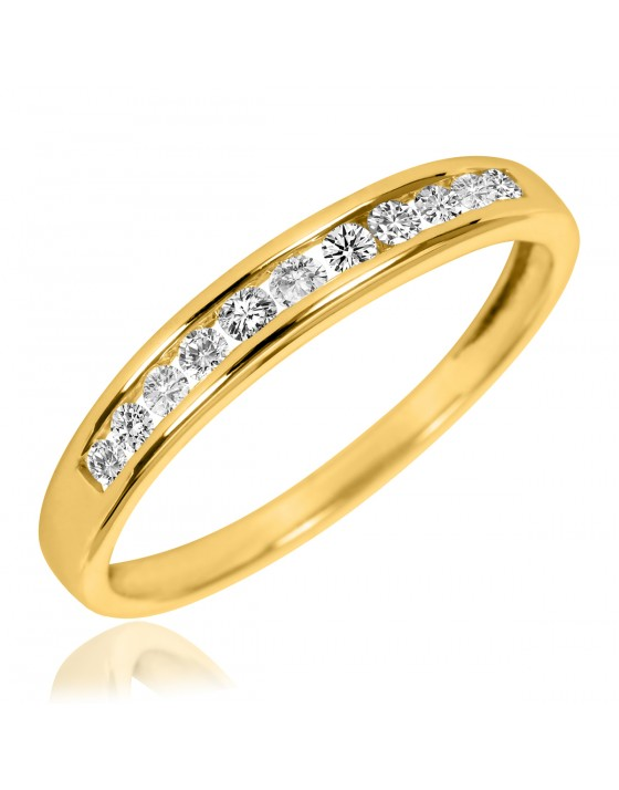 1/5 Carat T.W. Diamond Ladies' Wedding Band 10K Yellow Gold