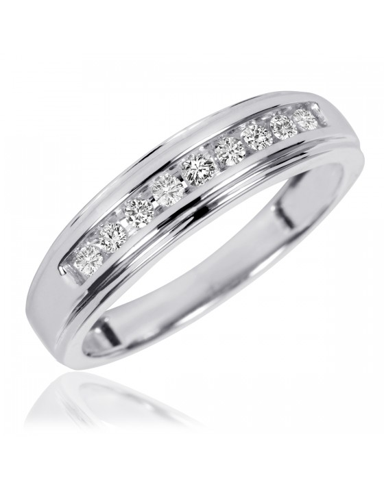 1/5 Carat T.W. Diamond Ladies' Wedding Ring 14K White Gold