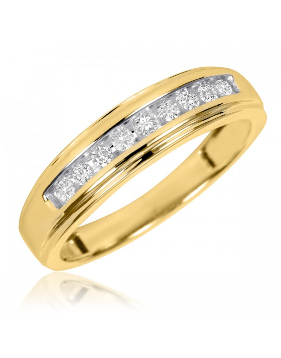 1/5 Carat T.W. Diamond Ladies' Wedding Ring 14K Yellow Gold