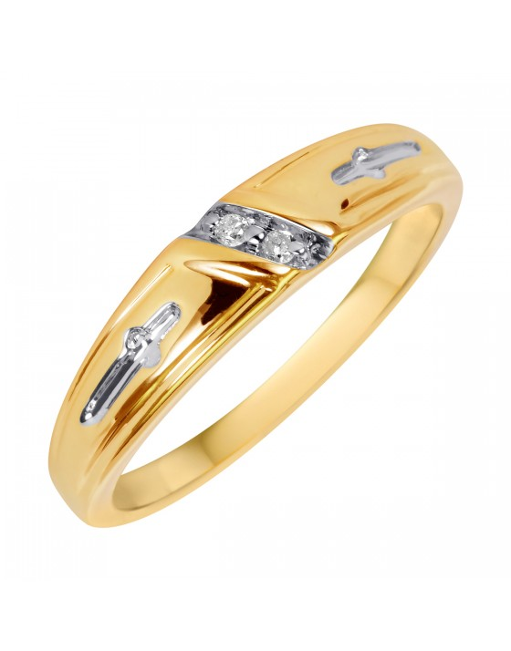 1/25 CT. T.W. Diamond Ladies' Wedding Ring 10K Yellow Gold
