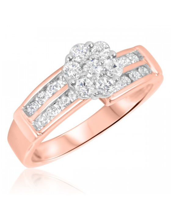 3/4 Carat T.W. Diamond Ladies' Engagement Ring 14K Rose Gold