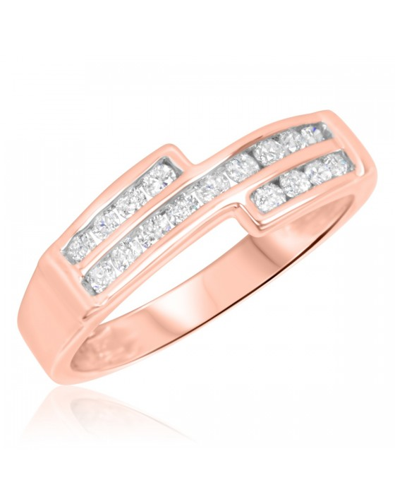3/8 Carat T.W. Diamond Ladies' Wedding Band 14K Rose Gold