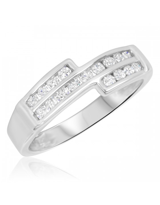 3/8 Carat T.W. Diamond Ladies' Wedding Band 10K White Gold