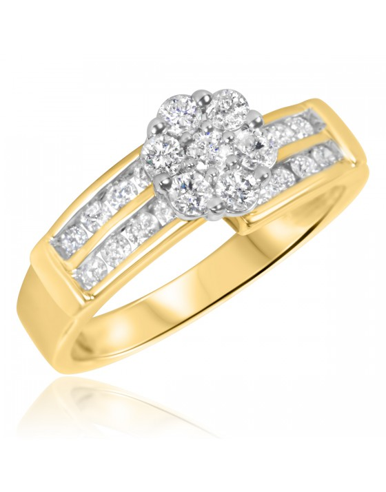 3/4 Carat T.W. Diamond Ladies' Engagement Ring 14K Yellow Gold