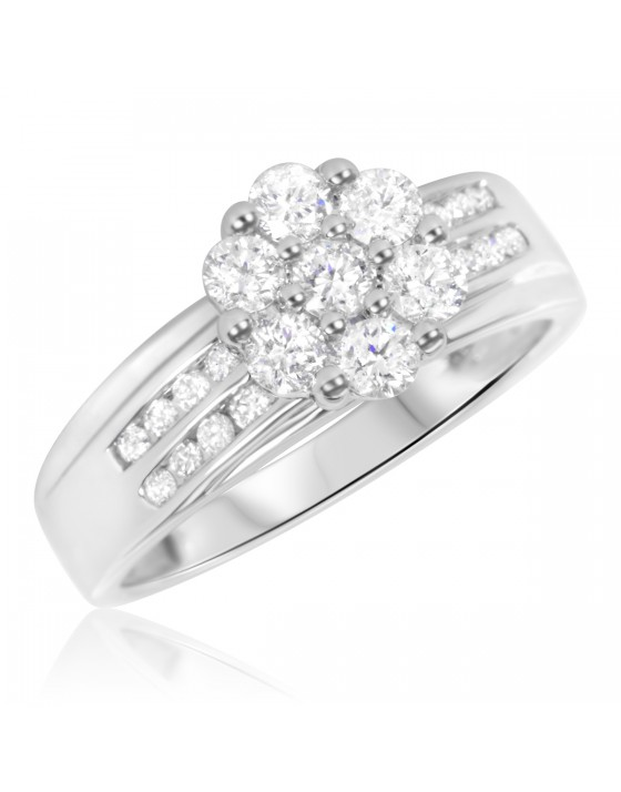 7/8 Carat T.W. Diamond Ladies' Engagement Ring 14K White Gold