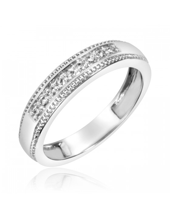 1/8 Carat T.W. Diamond Ladies' Wedding Band 10K White Gold