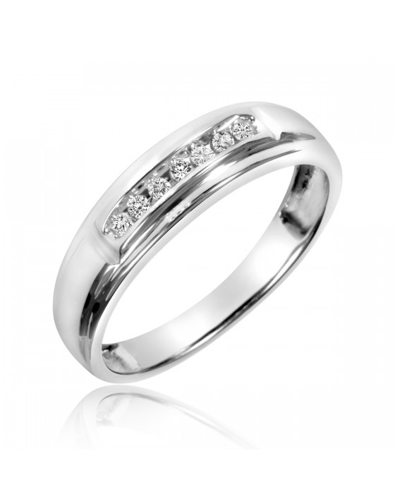 1/20 Carat T.W. Diamond Ladies' Wedding Band 10K White Gold