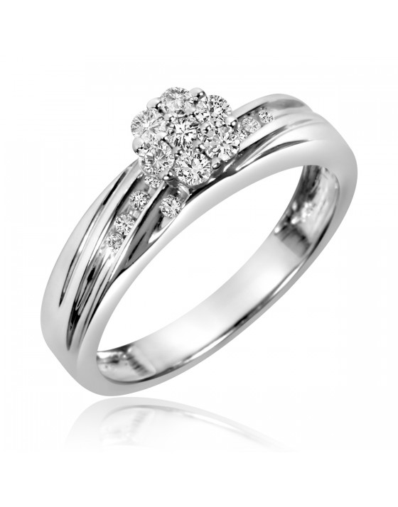 1/4 Carat T.W. Diamond Ladies' Engagement Ring 10K White Gold