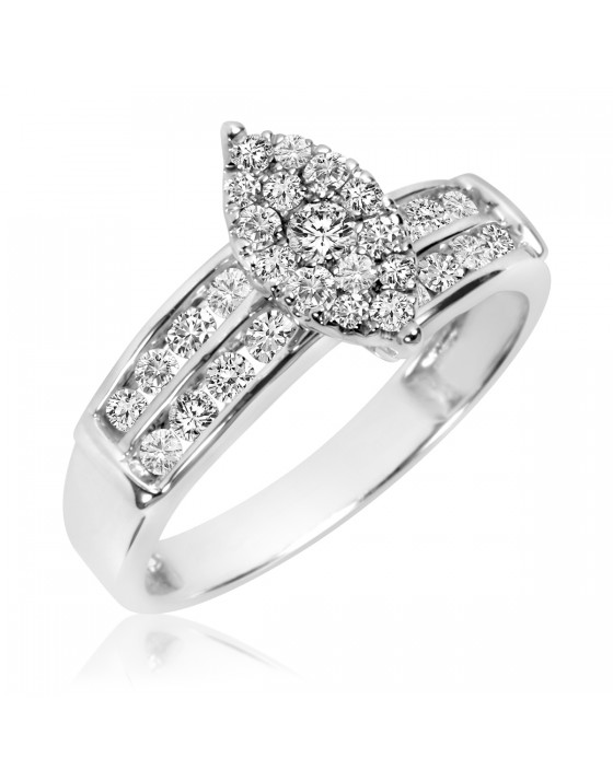 5/8 Carat T.W. Diamond Ladies' Engagement Ring 10K White Gold