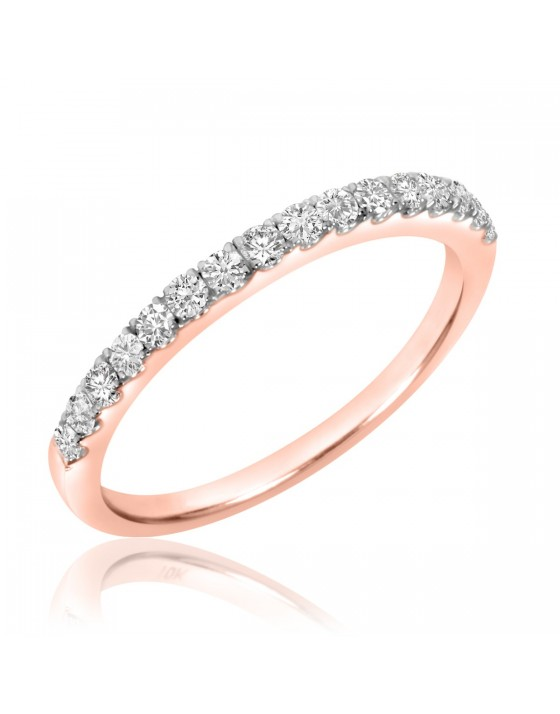 1/3 Carat T.W. Diamond Ladies' Wedding Band 10K Rose Gold