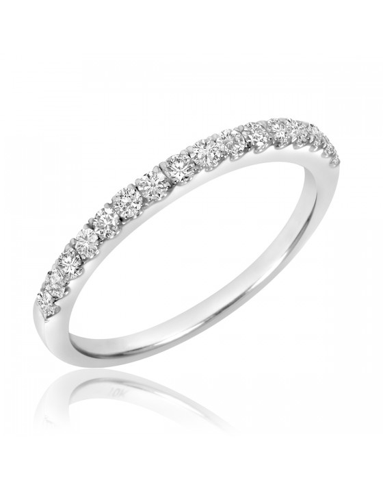 1/3 Carat T.W. Diamond Ladies' Wedding Band 10K White Gold