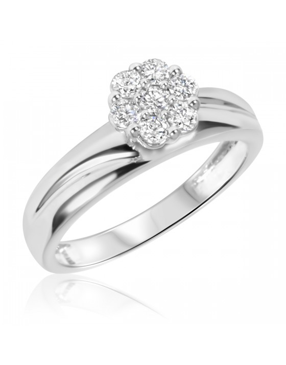 3/8 CT. T.W. Diamond Ladies' Engagement Ring 14K White Gold