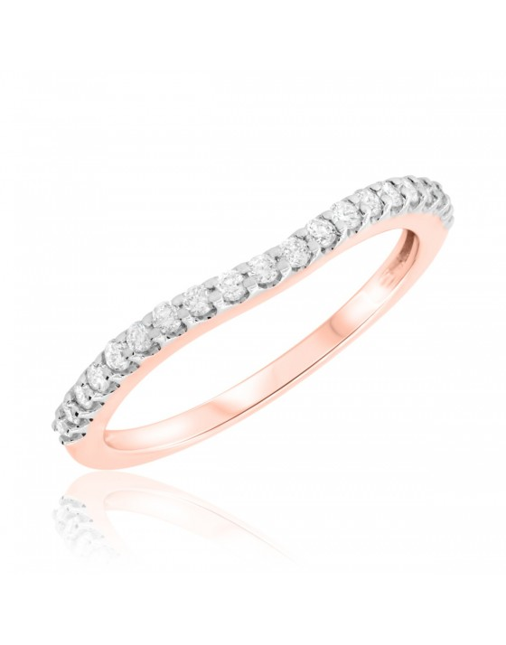 1/4 CT. T.W. Diamond Ladies Wedding Band 14K Rose Gold