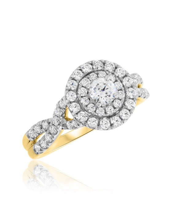 1 CT. T.W. Diamond Engagement Ring 10K Yellow Gold