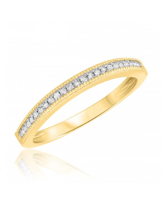 1/7 CT. T.W. Diamond Ladies Wedding Band  10K Yellow Gold