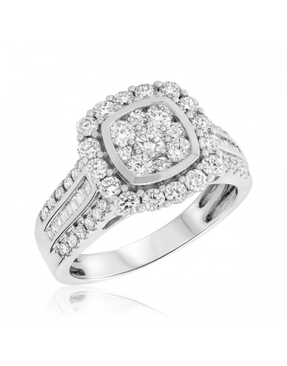1 5/8 Carat T.W. Diamond Engagement Ring 14K White Gold