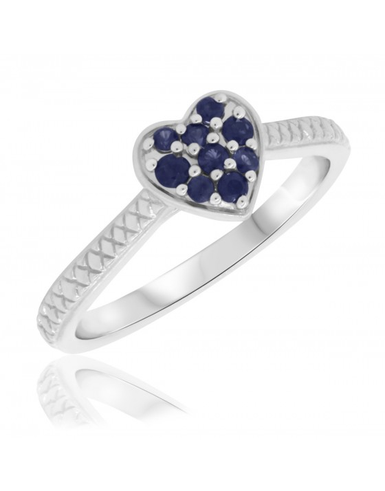 1/4 Carat T.W. Sapphire Engagement Ring 10K White Gold