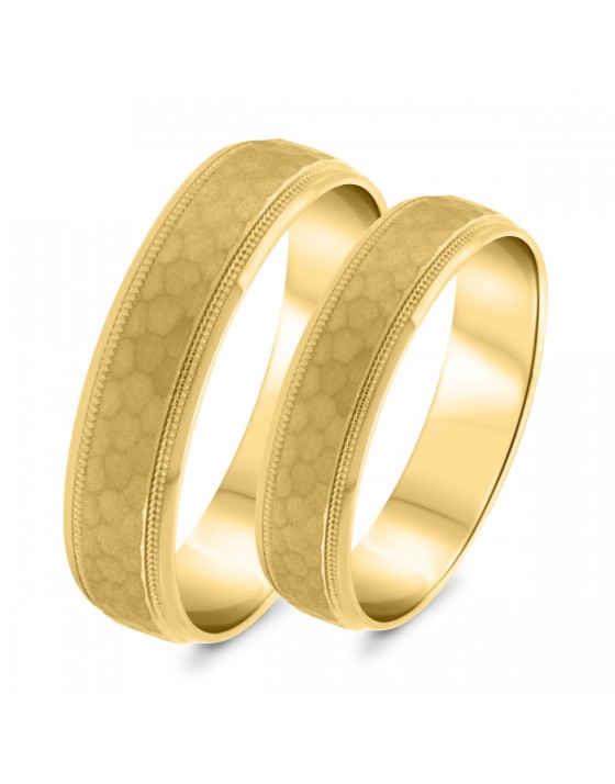 Matching Wedding Band Set 14K Yellow Gold