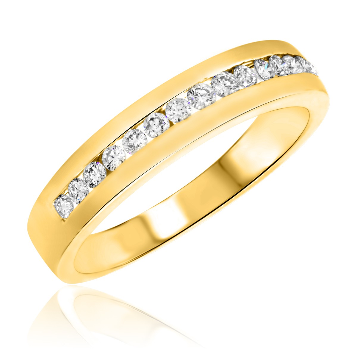 3/8 CT. T.W. Diamond Men's Wedding Band 14K Yellow Gold