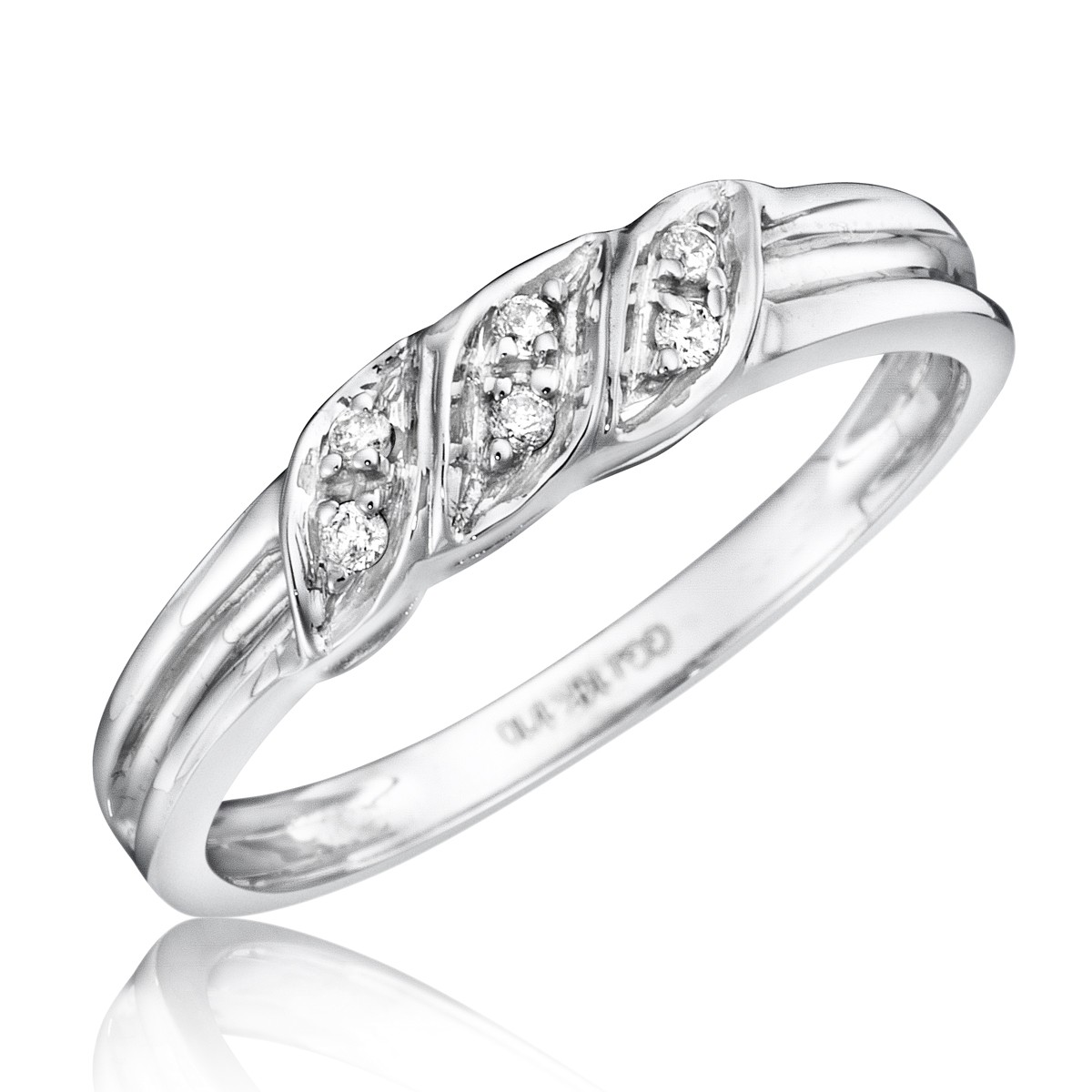 1/15 Carat T.W. Diamond Women's Wedding Ring 14K White Gold