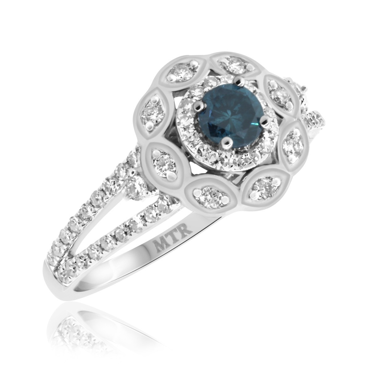 1 3/8 CT. T.W. Diamond Engagement Ring 14K White Gold