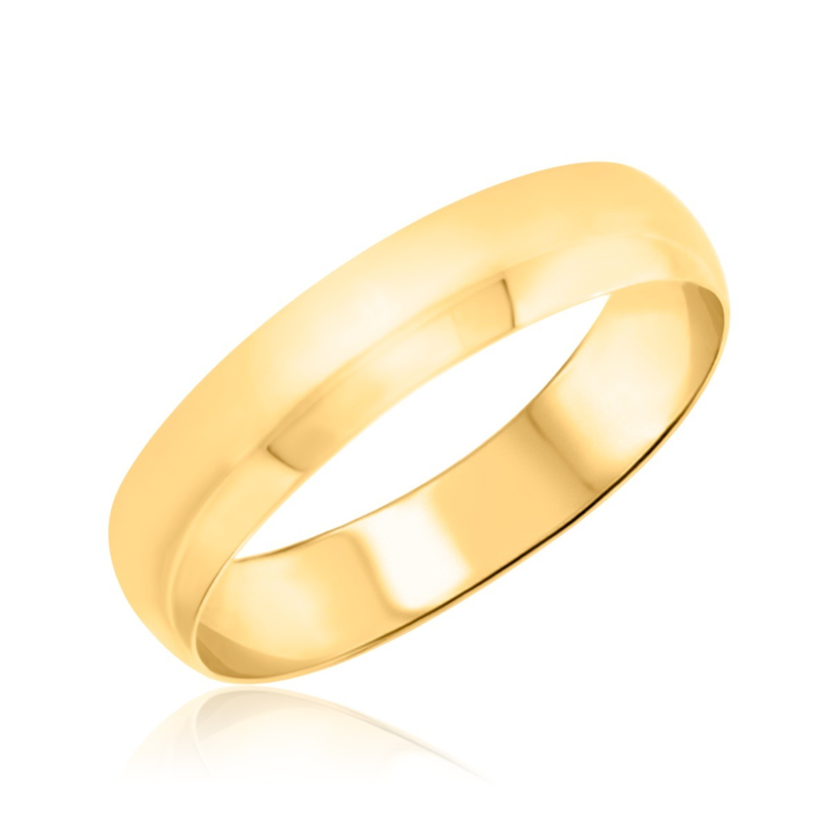 Comfort Fit Mens Wedding Band  14K Yellow Gold
