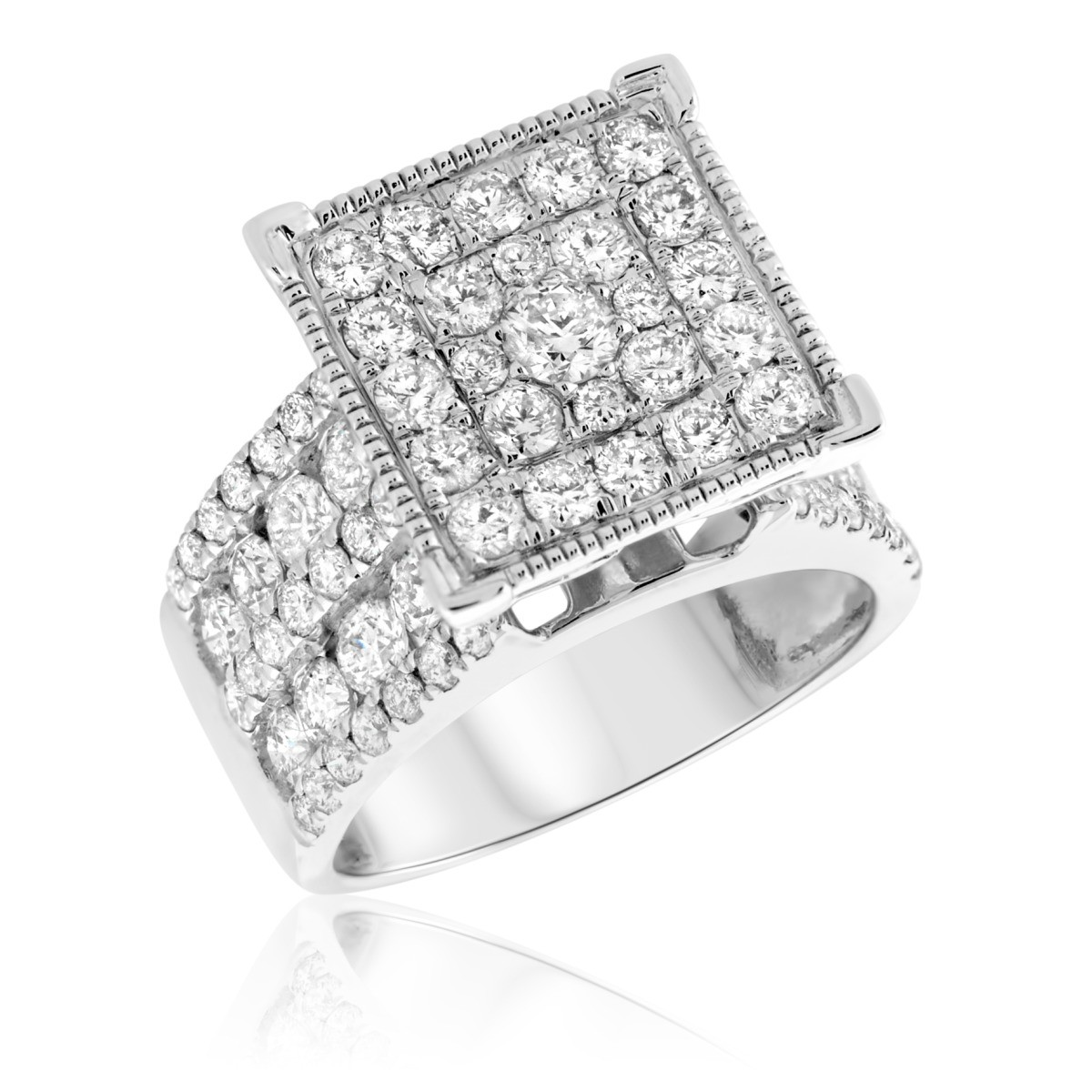 3 CT. T.W. Diamond Engagement Ring 14K White Gold