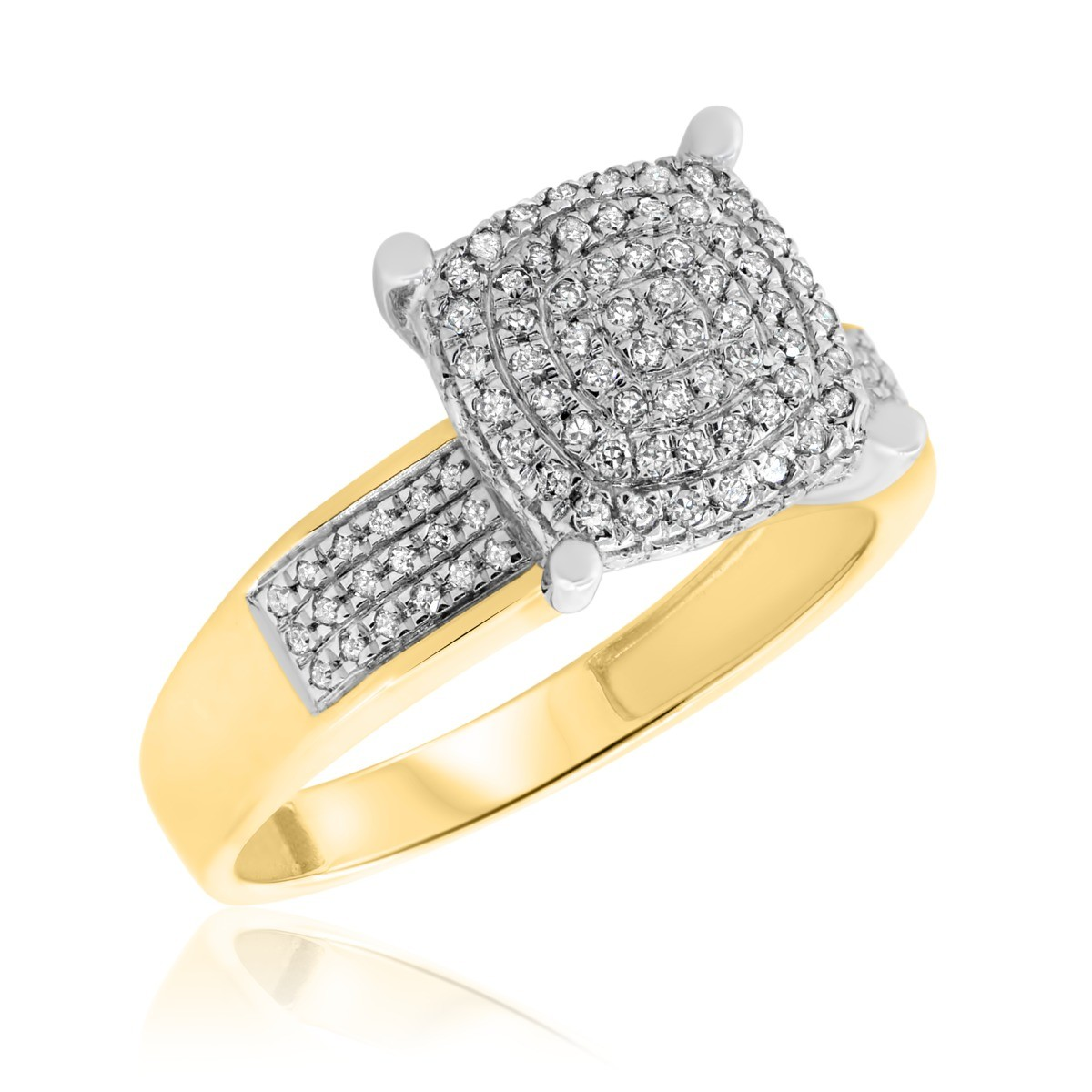1/4 CT. T.W. Diamond Engagement Ring 10K Yellow Gold