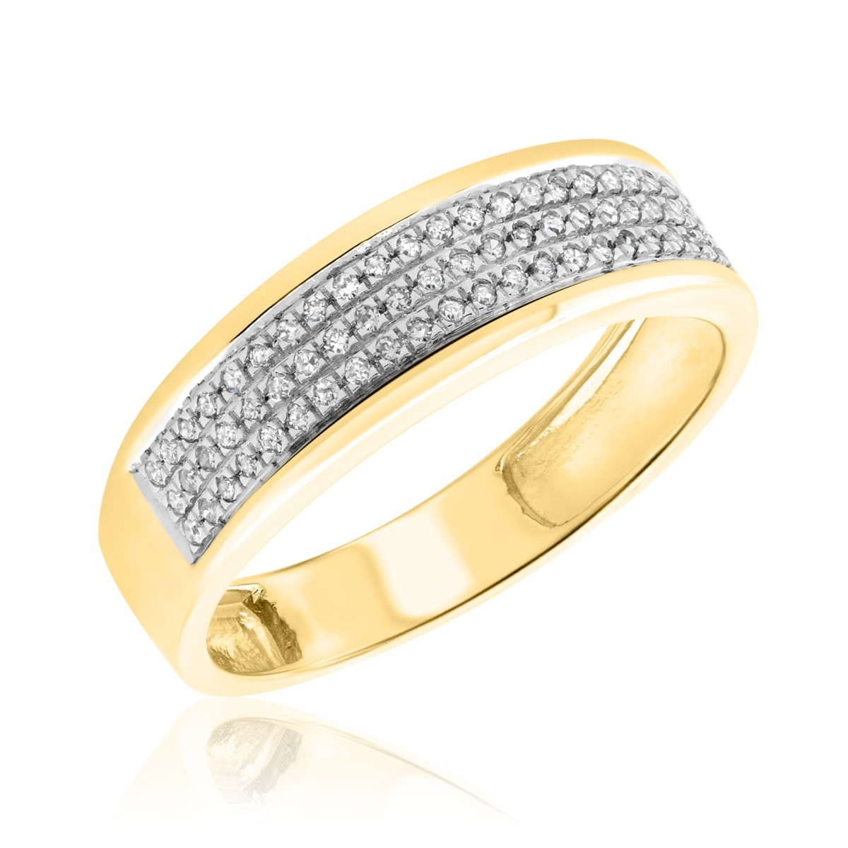 1/6 Carat T.W. Diamond Ladies Wedding Band 10K Yellow Gold