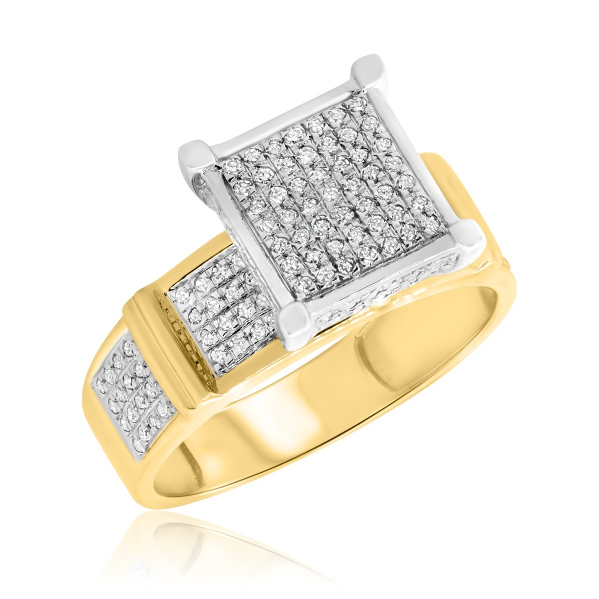 1/3 Carat T.W. Diamond Engagement Ring 10K Yellow Gold