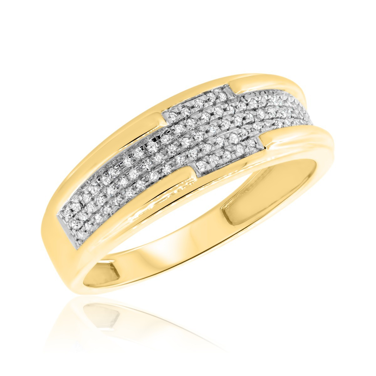 1/5 CT. T.W. Diamond Ladies Wedding Band  14K Yellow Gold