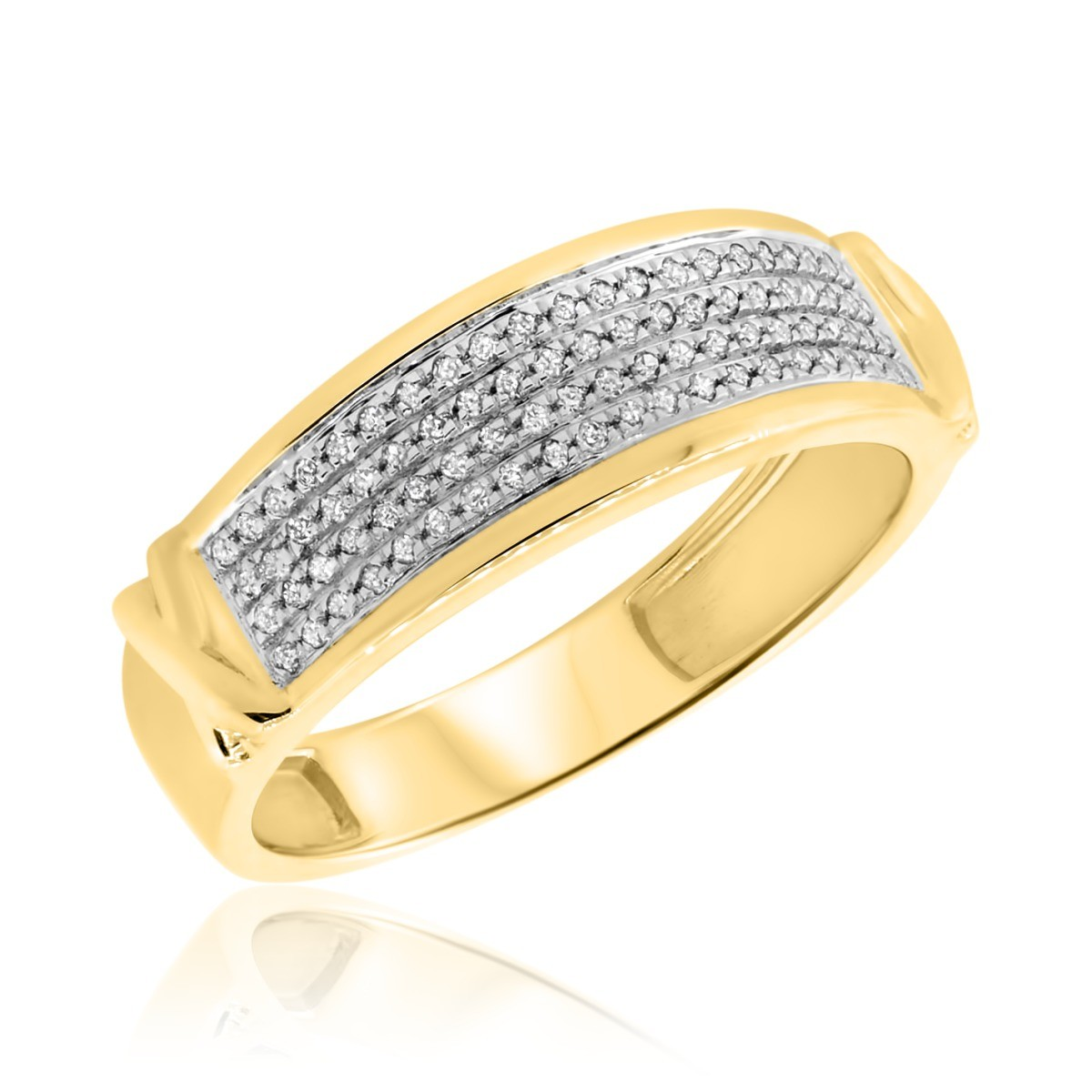 1/6 CT. T.W. Diamond Ladies Wedding Band  14K Yellow Gold