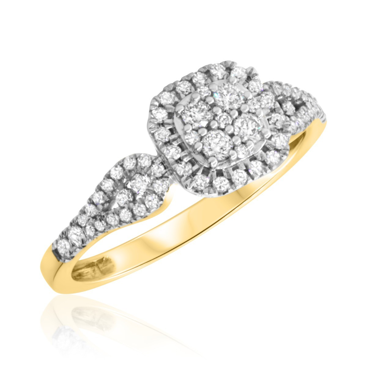 2/3 Carat T.W. Diamond Engagement Ring 14K Yellow Gold