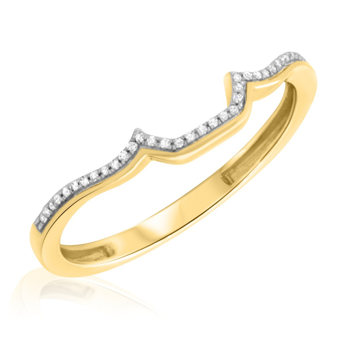 1/15 Carat T.W. Diamond Ladies Wedding Band  14K Yellow Gold