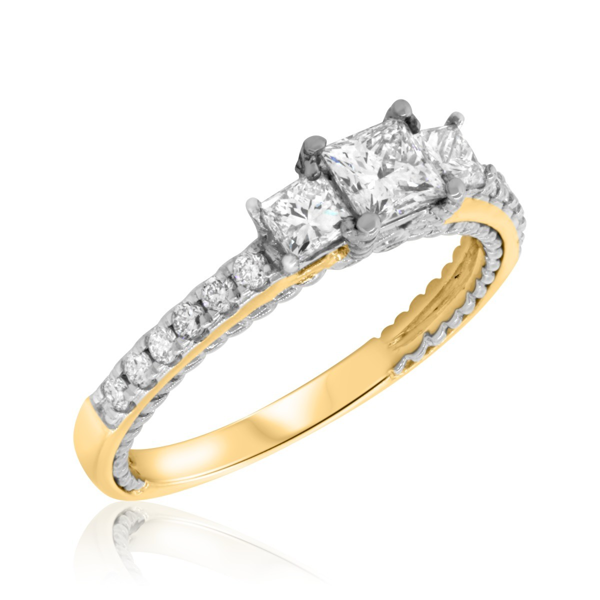 1  Carat T.W. Diamond Engagement Ring 10K Yellow Gold